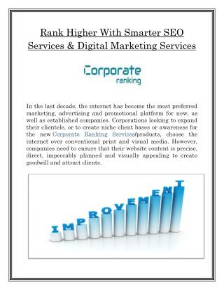 Digital Marketing Solution Company | Corporate ranking