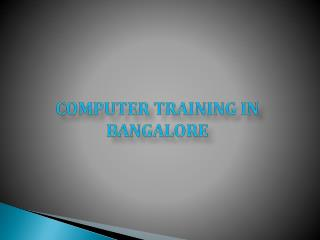 computer Coaching centers in bangalore