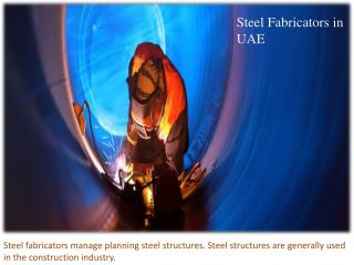 Steel Fabricators and Engineers in UAE