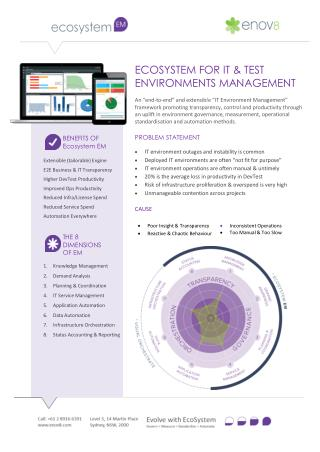 ECOSYSTEM FOR IT & TEST ENVIRONMENTS MANAGEMENT