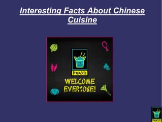 Interesting Facts About Chinese Cuisine