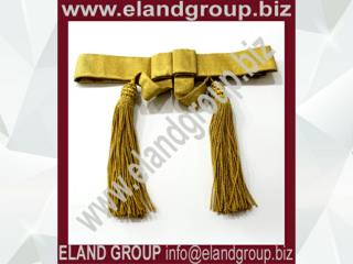British Army Waist Belt Sash Gold
