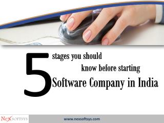 Best 5 stages you should know before starting Software Company in India