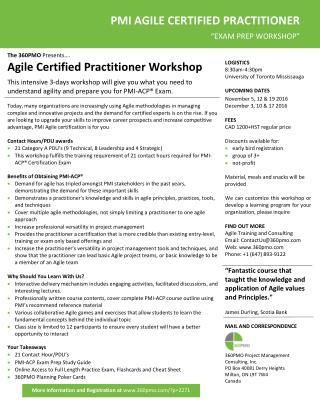 Agile Certified Practitioner Workshop
