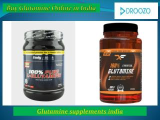 Buy Best Bodybuilding Glutamine supplements online in India