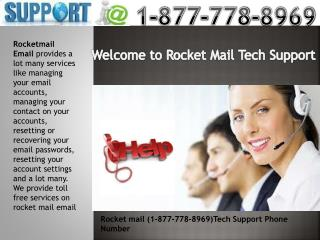 1-877-778-8969 Rocketmail Email Phone Number