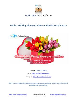 Guide to Gifting Flowers to Men- Online Roses Delivery