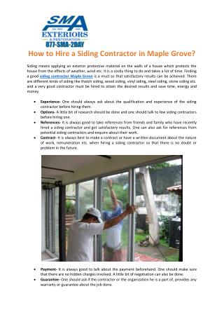 Home Window Installer Maplr Grove, Siding Contractor