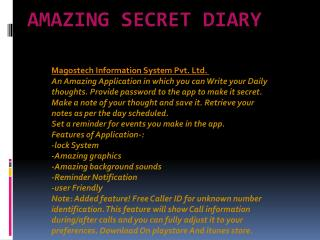 Amazing secret diary app for free