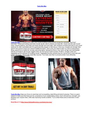 Ppt Max Testo Xl Muscles Booster Know First Advantages