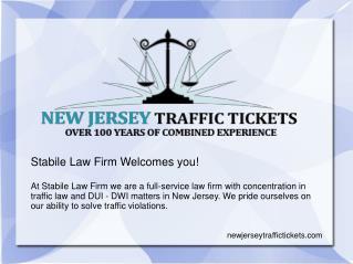 New Jersey traffic tickets