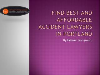 Find Best and Affordable  Accident Lawyers Portland