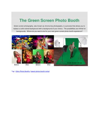 The Green Screen Photo Booth