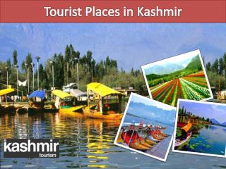 Tourist Places in Kashmir