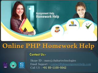 Online PHP Homework Help