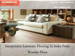Inexpensive Laminate Flooring In India From Wonder Floor