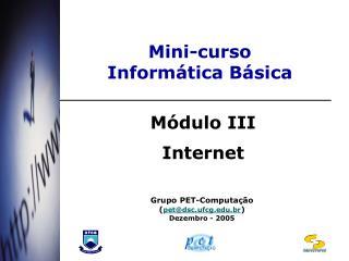 Mini-curso  Inform tica B sica