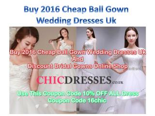 Buy 2016 Cheap Ball Gown Wedding Dresses Uk