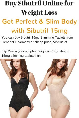 Buy Sibutril Online to Reduce Obesity Problem