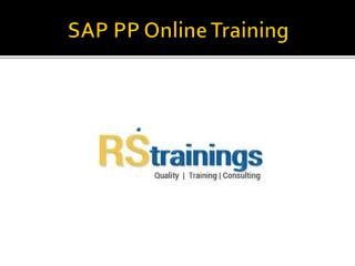 SAP PP Online Training COURSE content |sap mm course material
