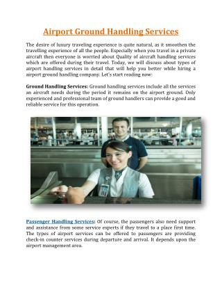Airport Ground Handling Services