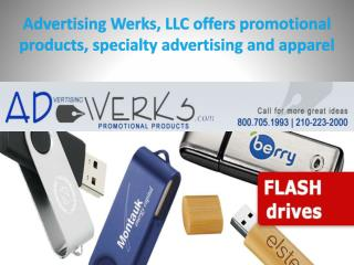 Advertising Werks, LLC offers promotional products, specialty advertising and apparel