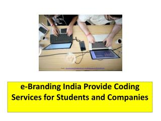 e-Branding India Provide Coding Services for Students and Companies