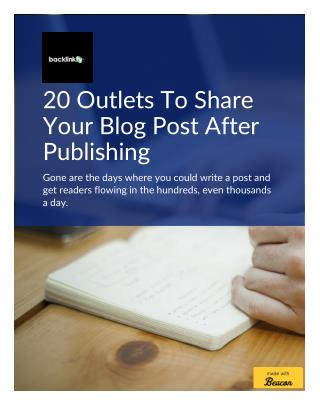 20 Outlets To Re-purpose Your Blog Content