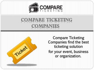 Compare Ticketing Companies Australia