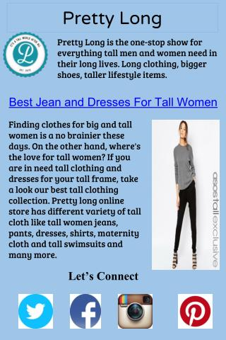 Best Jean and Dresses For Tall Women