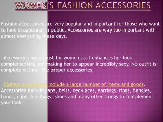 Latest Fashion Accessories For Women