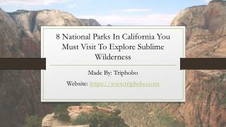 National Parks In California You Must Visit To Explore Sublime Wilderness