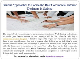 Fruitful Approaches to Locate the Best Commercial Interior Designers in Sydney