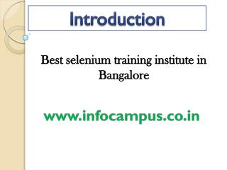 selenium training institute in Bangalore