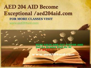 AED 204 AID Become Exceptional-aed204aid.com