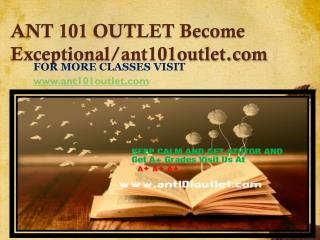 ANT 101 OUTLET Become Exceptional-ant101outlet.com