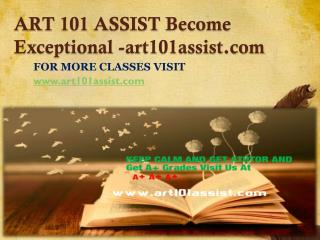 ART 101 ASSIST Become Exceptional-art101assist.com