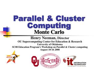 Parallel  Cluster Computing