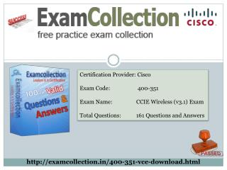 Pass your 400-351 exam with Exam collection
