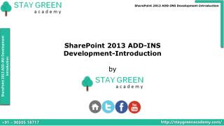 SharePoint 2013 Apps Development - Introduction Training