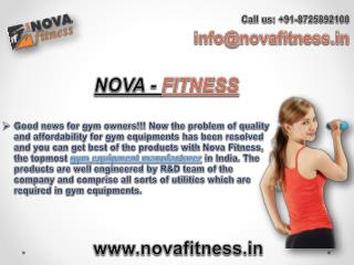 Gym, Fitness, Exercise Equipments Manufacturer in India