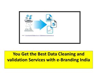 You Get the Best Data Cleaning and validation Services with e-Branding India