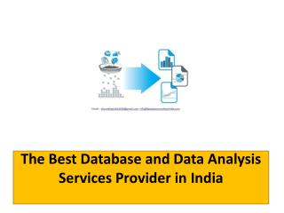 The Best Database and Data Analysis Services Provider in India