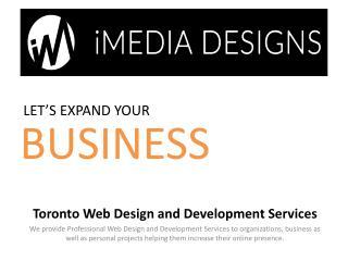 Toronto Web Design Company, web designer Toronto - iMediadesigns