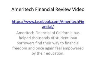 Ameritech Financial Review Video