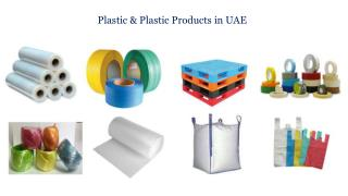 Plastics and Plastic Products Manufacturers in Dubai