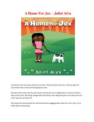 A Home For Jax – Juliet Alva