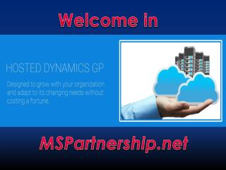 Dynamics GP Online for Businesses