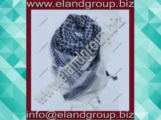 Shemagh Desert Scarf White Lite Blue