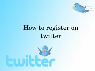 How to register on twitter?